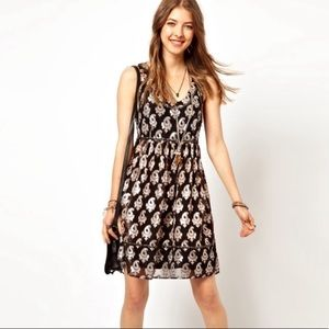 Free People Metallic Studded Jacquard Party Dress